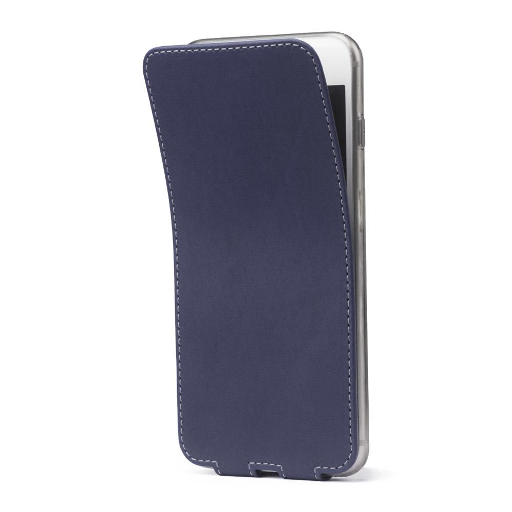 Чехол для iPhone 7 Plus из натуральной кожи теленка, синего цвета
