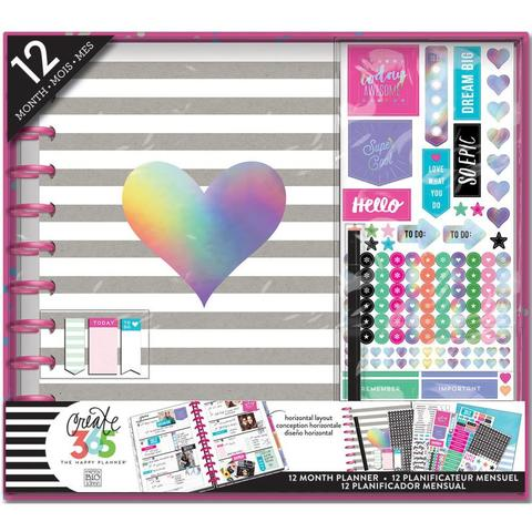 Набор для заполнения ежедневника  + планер Create 365 Planner Box Kit- 23 х 28 см. - Rainbow Foil