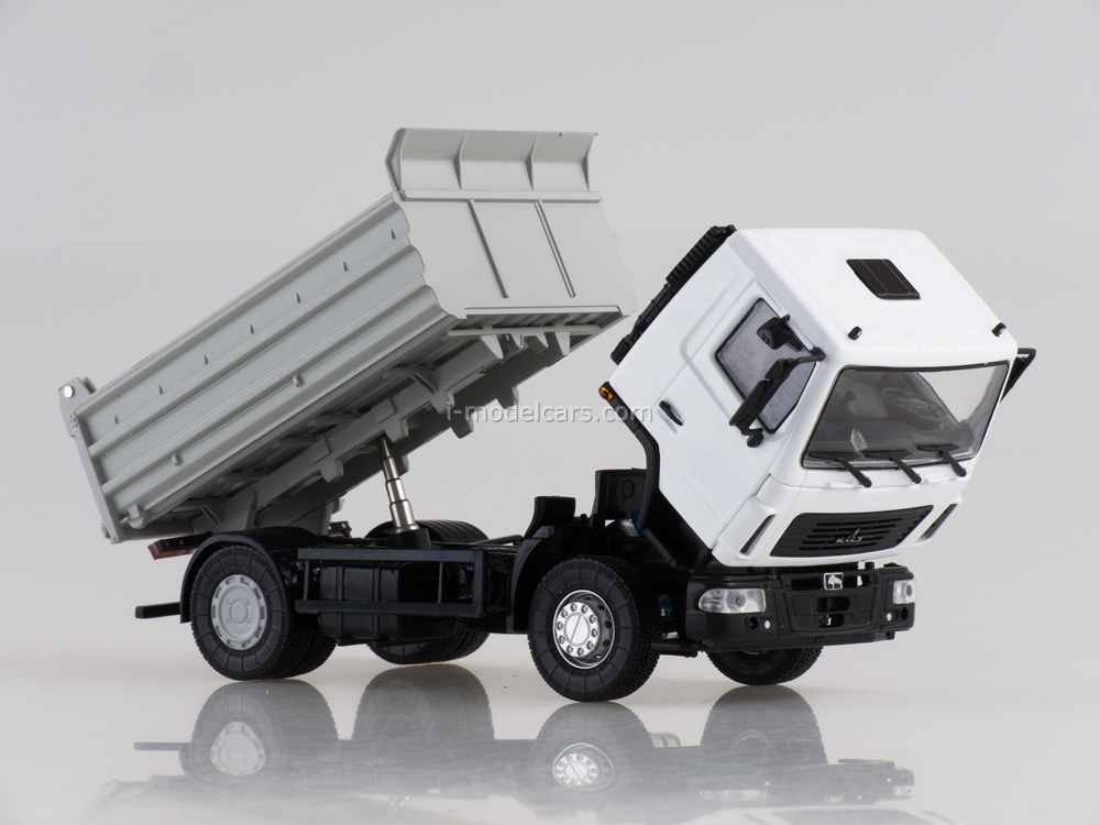 MAZ-5550 tipper restyling white-gray 1:43 AutoHistory