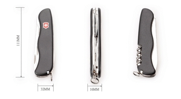 Складной нож Victorinox Picknicker (Nomad) Black, 111 мм., 11 функций, чёрный (0.8353.3) - Wenger-Victorinox.Ru
