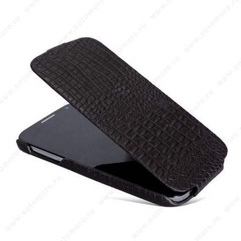 Чехол-флип Borofone для Samsung Galaxy S4 i9500/ i9505 - Borofone Crocodile Leather case Brown
