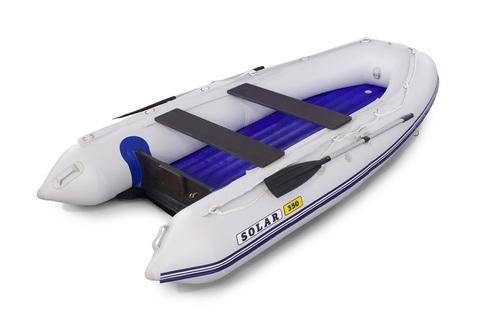 Надувная ПВХ-лодка Солар Максима - 350 (светло-серый)