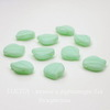 "Бусина ""Листик""  (цвет - зеленый ментол) 15х12 мм , 10 штук"