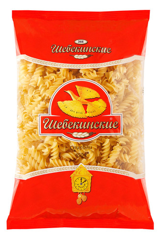 """Макаронные изделия """"Шебекинские""""  спираль №366  450 г"""