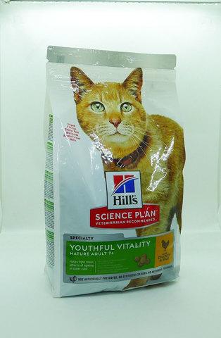 Hill's Youthful Vitality сухой корм для пожилых кошек (курица) 1,5кг
