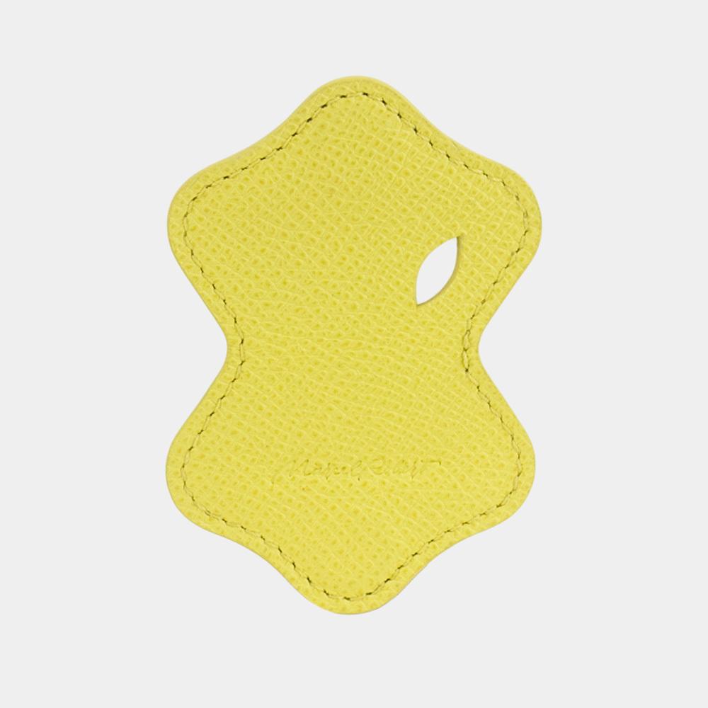 Чехол-держатель для наушников Chapeau Easy из натуральной кожи теленка, желтого цвета