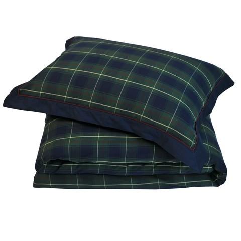 Постельное белье 2 спальное евро макси Casual Avenue Kingston Green Tartan зеленое