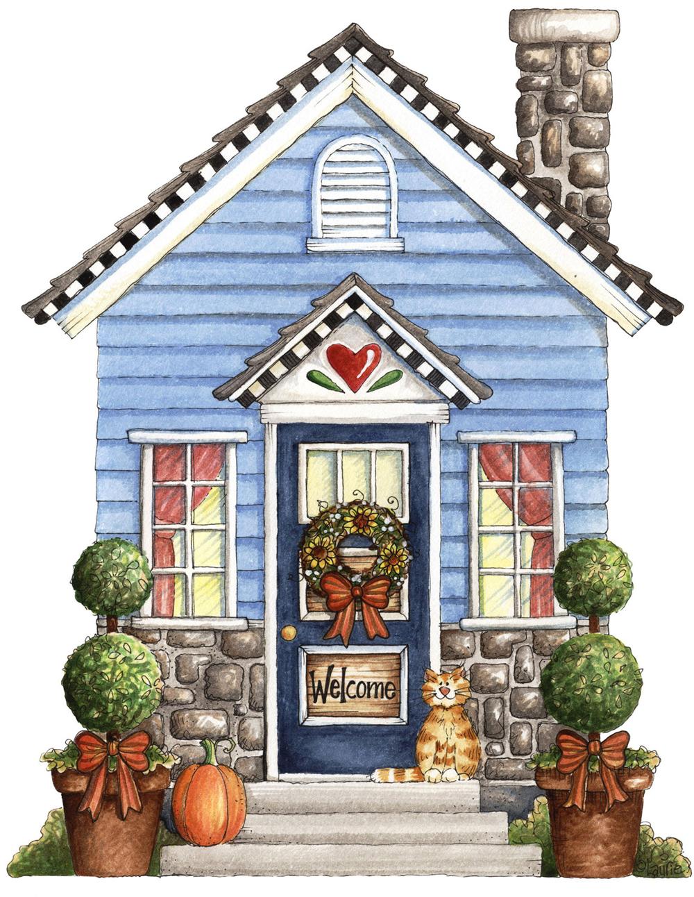 Папертоль Домик с котенком — главное фото сюжета