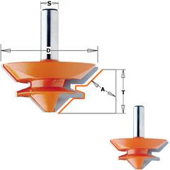 Фреза для сращивания 9,5-19 мм S=12 D=50,8x22,2