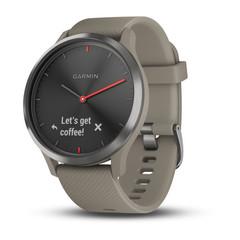 Умные часы Garmin Vívomove HR Sport черные с песочным ремешком 010-01850-03