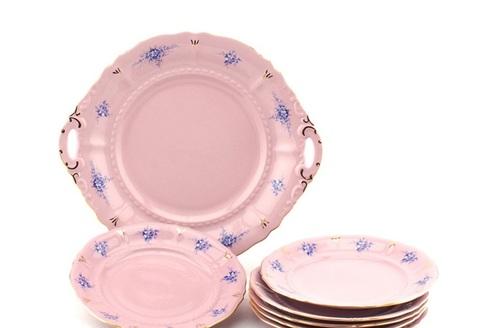 Сервиз для торта 7 предметов с тарелками десертными 17 см Соната Leander