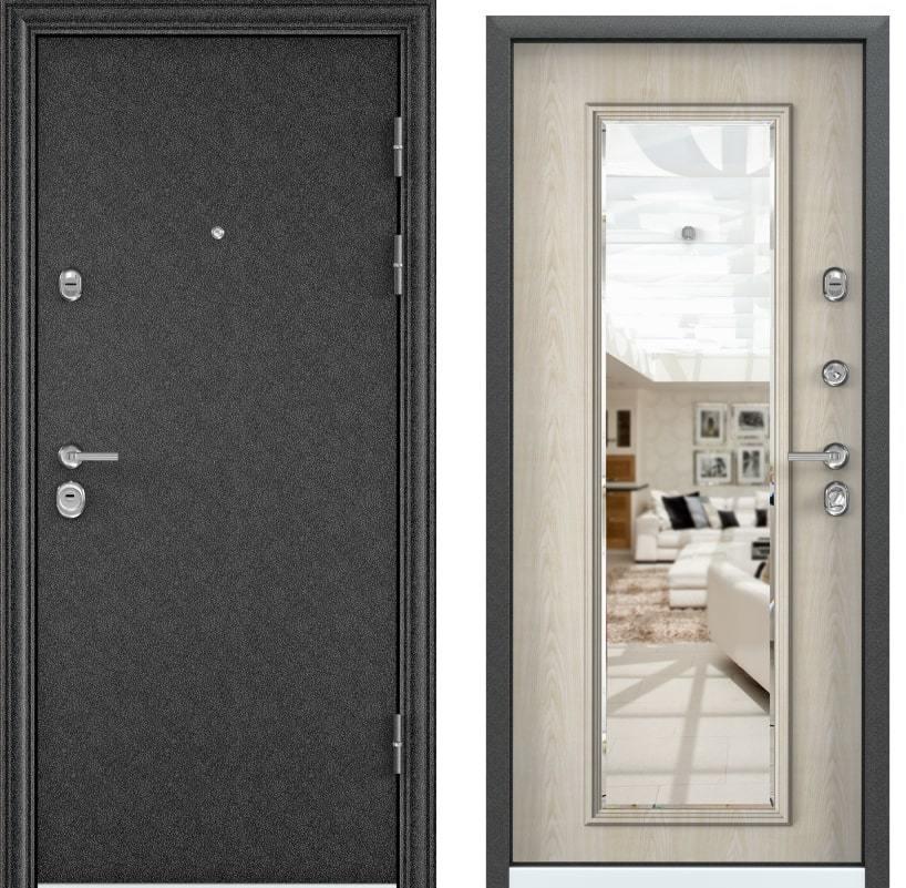 Входные двери Torex Ultimatum черный шелк KB-11 KT дуб бежевый с зеркалом generated_image-2.jpg