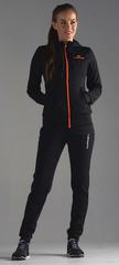Костюм спортивный Nordski Zip Hood Cuffed Black-Orange женский