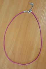 Шнурок 45 см розовый