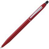Шариковая ручка Cross Click мат красный CT с 2 гел стерж Fblack блистер (AT0622S-119)