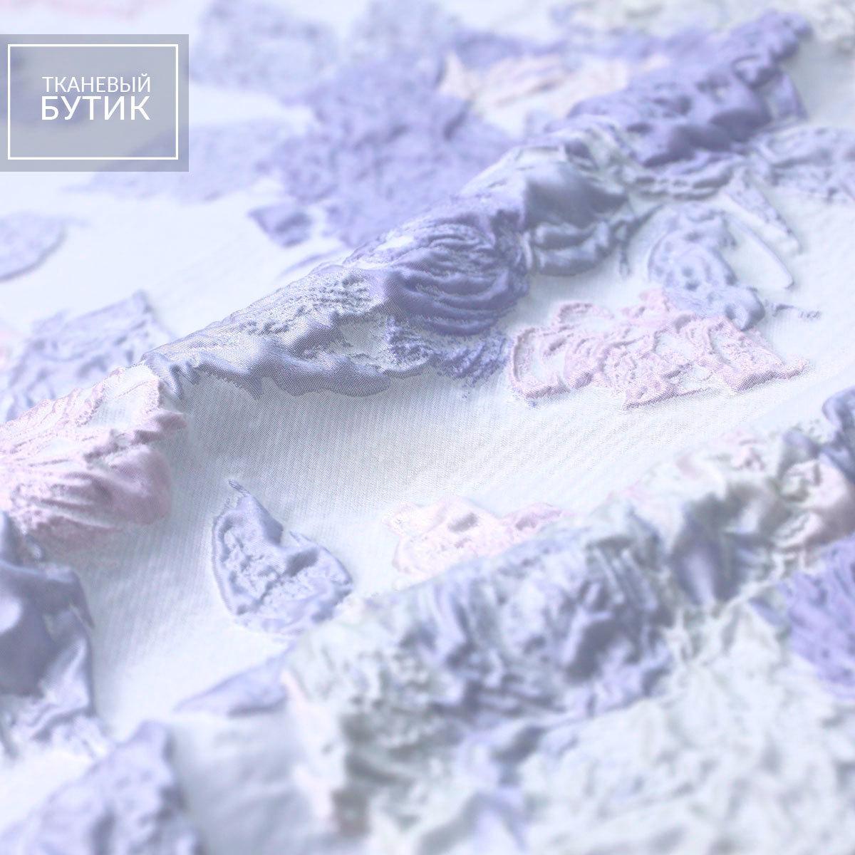 Жаккард с шелком в пастельных оттенках