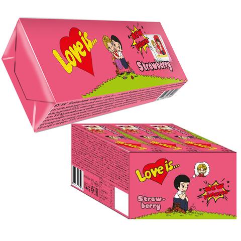 LOVE IS жевательные конфеты со вкусом Клубники 18*12*25г