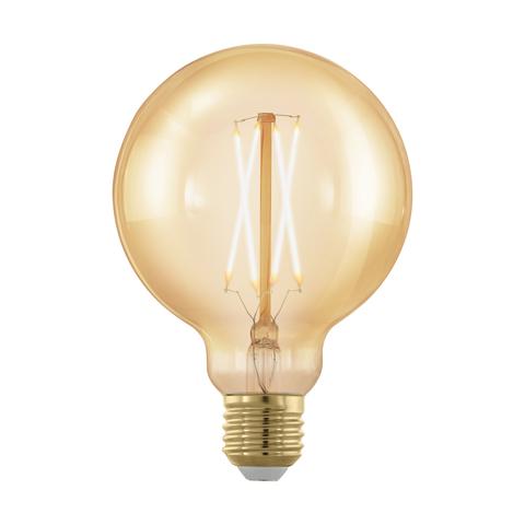 Лампа  LED филаментная диммируемая из стекла золотого цвета Eglo GOLDEN AGE LM-LED-E27 4W 320Lm 1700K G95 11693