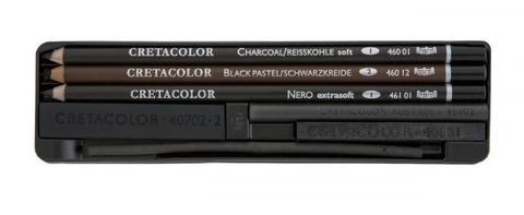 Набор художественный 3 карандаша - угольный, пастельный, nero + уголь