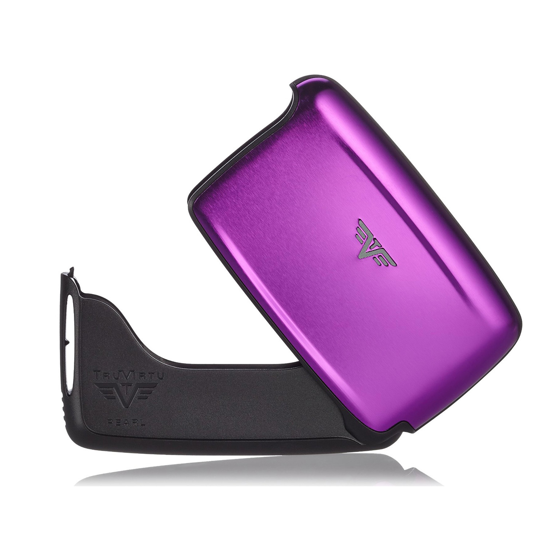 Визитница c защитой Tru Virtu PEARL, цвет лиловый , 104*67*17 мм