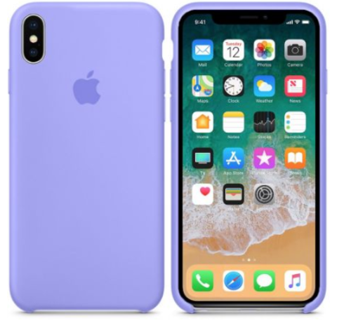 iPhone X/XS Silicone Case Фиалковый