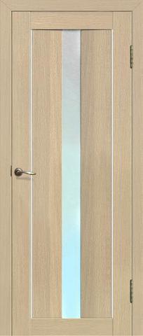 Дверь La Stella 207, стекло матовое, цвет ясень латте, остекленная