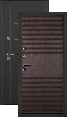 Термодверь входная Дверной континент Термаль, 2 замка, 1,5 мм  металл, венге