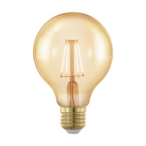 Лампа  Eglo филаментная диммируемая золотая LM LED E27 G80 1700K 11692