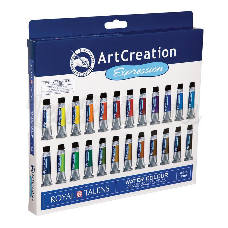 Набор акварельных красок ArtCreation - 24 цвета в тубах по 12мл