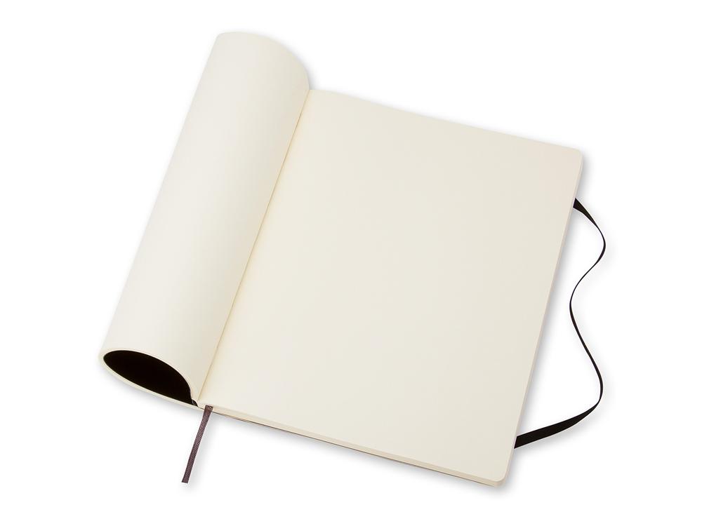 Блокнот Moleskine Classic Soft XL, цвет черный, без разлиновки