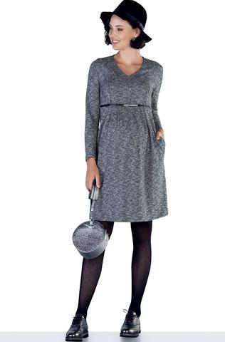 Платье 09874 серый