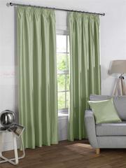 Silky (зеленый). Шторы из люкс-сатена однотонного.