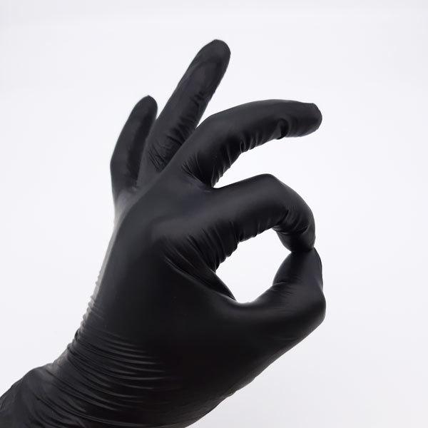 Одноразовые перчатки Перчатки одноразовые виниловые, черные, 4,5 г (100 шт/уп) Перчатки-виниловые-черные.jpg