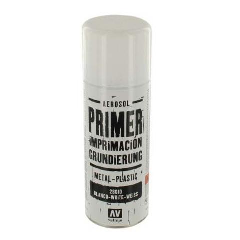 28010 Primer Metal-Plastic White Грунт в Аэрозоли Металл-Пластик Белый, 400 мл Acrylicos Vallejo