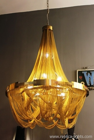 chandelier SOSCIK by Terzani ( 80 cm + gold ) 1