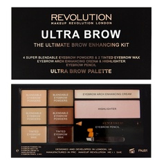 Палетка теней для бровей Makeup Revolution Ultra Brow Palette, Fair to Medium