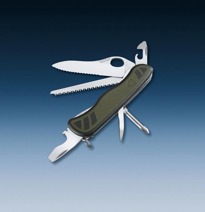 Нож Victorinox Soldiers Knife, 111 мм, 10 функций, зеленый