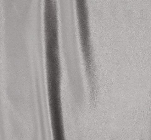 Однотонная портьерная ткань Эвита сатин бежево-серый