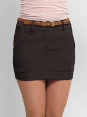 2111-4 юбка темно-коричневая