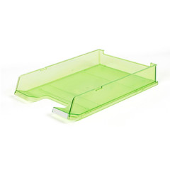 Лоток для бумаг HAN с инд.окном прозр.зеленый 1020/27
