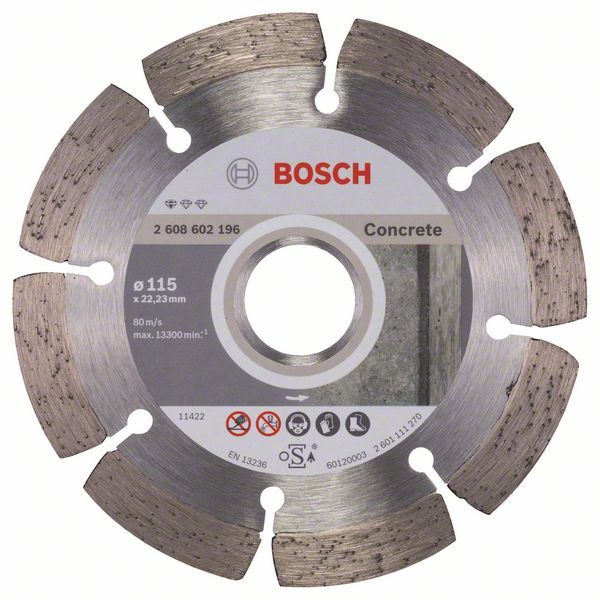 Алмазный диск Standart for Concrete 115-22,23 Bosch 2608602196