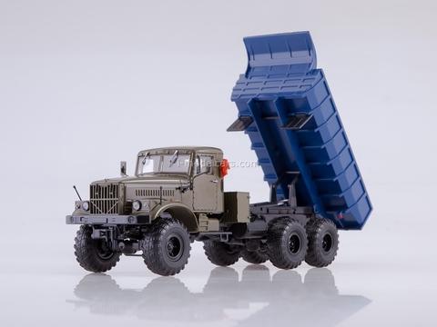 KRAZ-255B 6x6 dump truck khaki-blue 1:43 AutoHistory