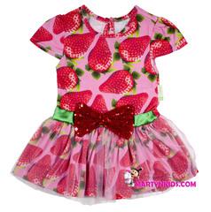 652 платье клубничка