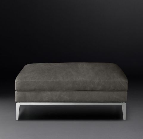 Italia Leather End-of-Sectional Ottoman