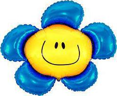 F Мини фигура Цветочек (солнечная улыбка) синий / Flower (14
