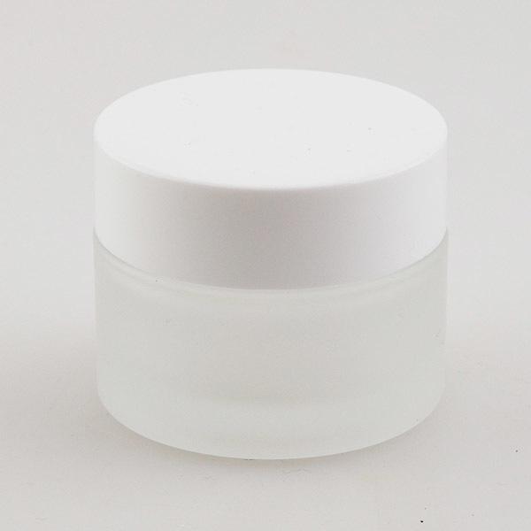 Банка для крема ручной работы матовое стекло
