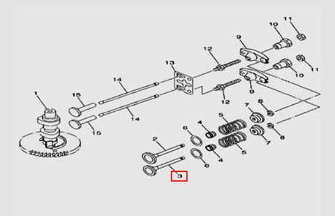 Клапан выпускной для лодочного мотора F5 Sea-PRO(5-3)