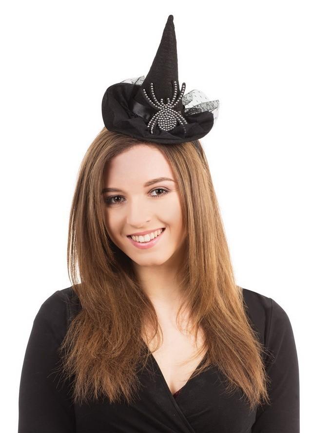 Шляпка (колпак) ведьмы с пауком на ободке