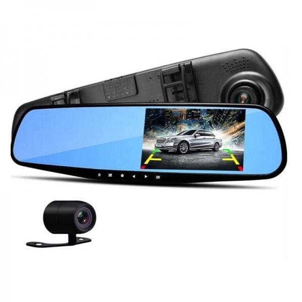 Зеркало-видеорегистратор с камерой заднего вида Vehicle Blackbox DVR
