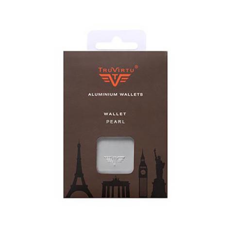 Визитница c защитой Tru Virtu Pearl, лиловый , 104x67x17 мм